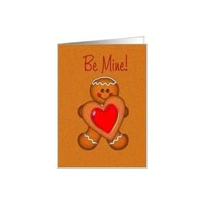 BE MINE COOKIE BOY HEART VALENTINE Card Health & Personal