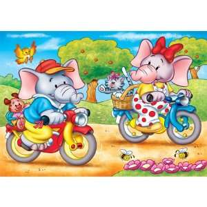 Jumbo the Elephant Bike Ride Jigsaw Puzzle 20pc Toys