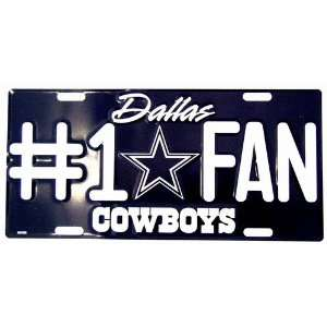 America sports Dallas Cowboys #1 Fan NFL Football License