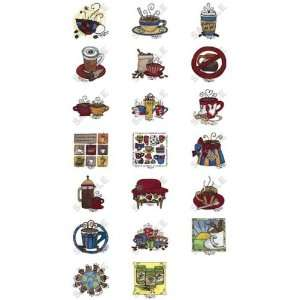 Coffee Collection by Tara Reed Embroidery Designs on a Multi Format CD