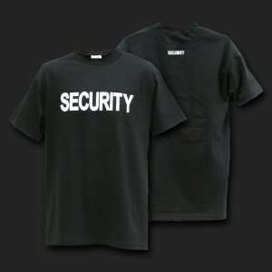 Security Officer Black & White T shirt Shirt Size XL