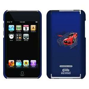 Hot Wheels red on iPod Touch 2G 3G CoZip Case Electronics