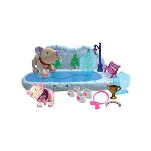 Teacup Piggies Champions Ice Skating Rink Play Set: Toys