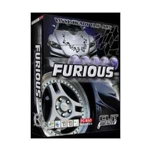 FURIOUS RACING VEHICLE CLIPART FOR SIGN VINYL PLOTTER