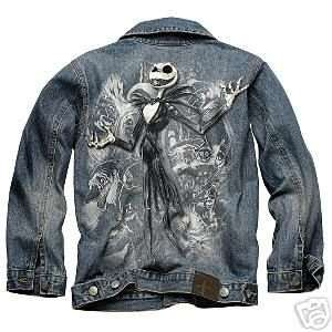 Nightmare Before Christmas Disney Jack Skellington Denim Jacket Boys