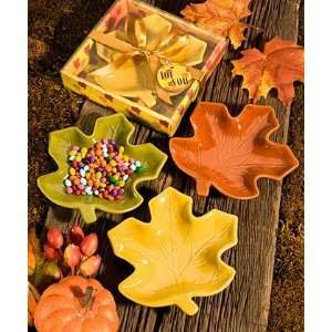 Autumn Magic Collection Leaf Candy Dishes Health