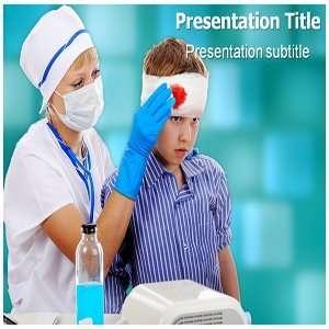head injury PowerPoint Template   head injury PowerPoint