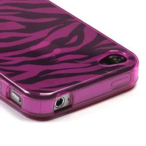 Hot Pink Zebra Skin Candy Skin Cover For APPLE iPhone 4S/4