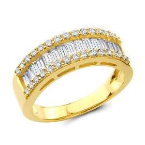 Ladies Wedding Ring Band   Size 4: The World Jewelry Center: Jewelry