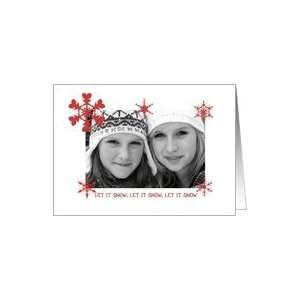 Let it Snow Happy Holidays Christmas Photo Card Card