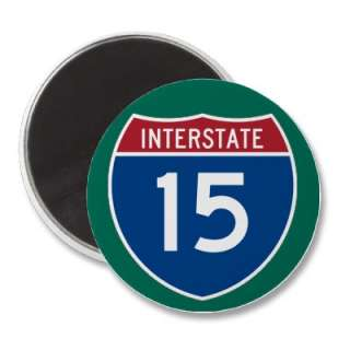 Interstate 15 (I 15) Highway Sign Magnets by Interstate_