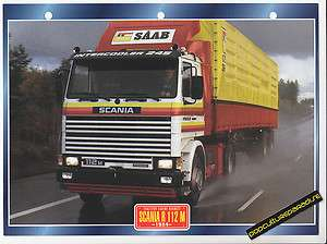 1964 SCANIA R 112 M TRUCK HISTORY PHOTO SPEC SHEET