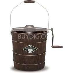 White Mountain 4 Quart Wooden Bucket Manual Hand Crank Ice Cream Maker
