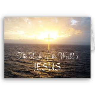 Jesus  Holy Cross Ocean Sunset Greeting Card by hungaricanprincess