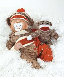 for Baby Dolls that  Real? We have Sock Monkey Business Baby Doll