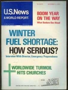 1972 US News & World Report: Winter Fuel Shortage