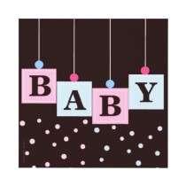 Pink Blue Blocks Boy or Girl Baby Shower Invitations by kat_parrella