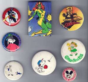 old Comic Book Cartoons pin pinback button #B