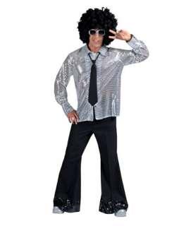 Mens Black Diamond Disco Pants with Sequin Cuff Costume  Mens Disco