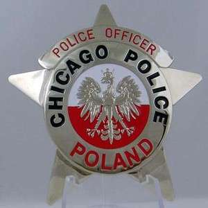 Chicago Police Badge Star ( Poland )