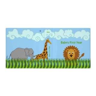 Cute Cartoon Safari Animals 1.5 Inch Binder by SocialiteDesigns