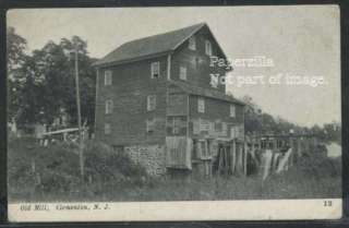 NJ Clementon LITHO c08 OLD MILL & Water Wheel by Davey