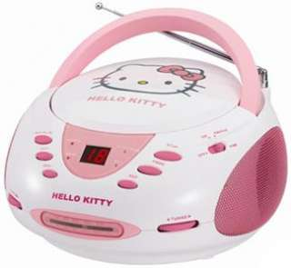 NEW~GIRLS PINK HELLO KITTY STEREO CD PLAYER AM FM RADIO