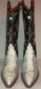 NEW Genuine FERRINI Leather White Python Womans Cross Western Cowboy