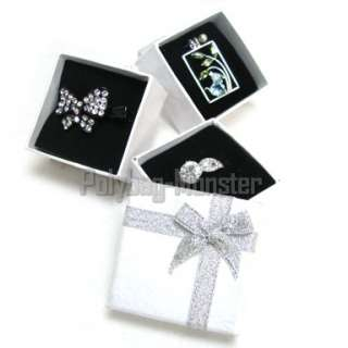 15 White Jewelry Gift Box Ring Earring Brooch #2 6