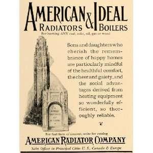 1927 Ad American Radiator Company Boilers Heating Coal