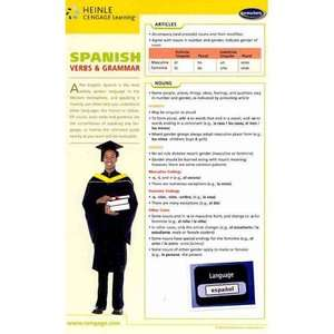 Spanish Grammar Chart, Permarcharts  Textbooks