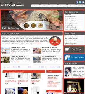 Profitable money making Coin Collection Store  affliate Websites