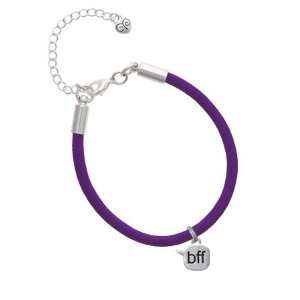 bff   Best Friends Forever   Text Chat Charm on a Purple Malibu Charm