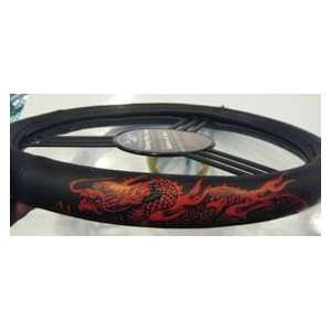 Red Dragon Leather Steering Wheel Cover Automotive