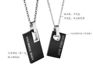 Stainless Steel Love Forever Pendants Wedding Couple Necklaces