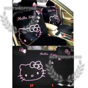 10pcs New Universal Hello Kitty Cute Car Seat Cover Set
