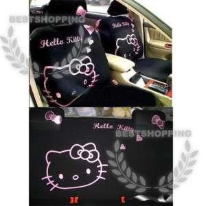 10pcs New Universal Hello Kitty Cute Car Seat Cover Set