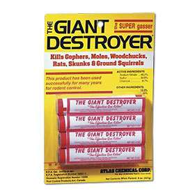 24 Giant Destroyer Smoke Bombs Kill Gophers Moles Rats Skunks Ground