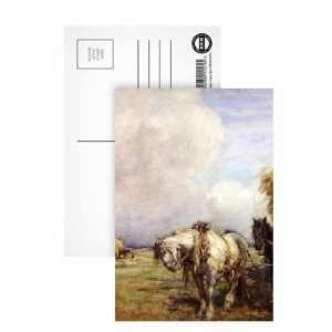 The Hay Wagon (w/c on paper) by Nathaniel Hughes John Baird