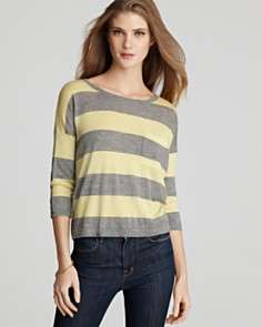 Quotation Autumn Cashmere Sweater   Cropped Stripe