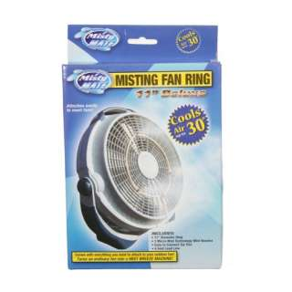 Misty Mate 11 Deluxe Misting Fan Ring Cools 30 Degrees 731687055051