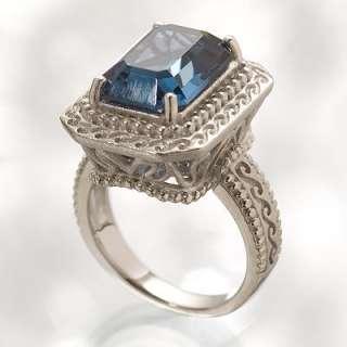 Simply Vera Vera Wang Sterling Silver Montana Crystal Ring