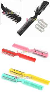 Pet Dog Cat Hair Trimmer Comb 2 Razor Grooming Comb New