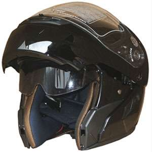 Helmet full face Dual Visor Flip Up Internal Sunglass Helmet 618 BLK