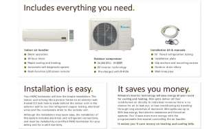 Ductless Mini Split Air Conditioner Heat Pump 24000 BTU 2 Ton 24,000