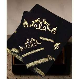 Armani International, Florenca, Luxury European Towel Set, Color Black
