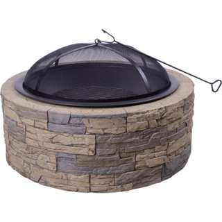 Shinerich Cast Iron Firepit/Grill  35in Model# SRFP97C