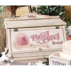GIVE US THIS DAY RED BIRD BREAD BOX