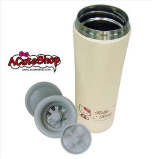 HELLO KITTY STAINLESS STEEL VACUUM THERMOS MUG HIGH END