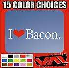 Love Bacon Vinyl Sticker decal Heart officer deputy police cop funny